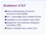 breakdown of elf