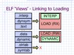 elf views linking to loading