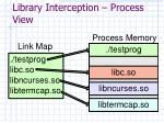 library interception process view