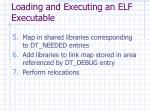 loading and executing an elf executable27