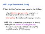 hipe high performance erlang