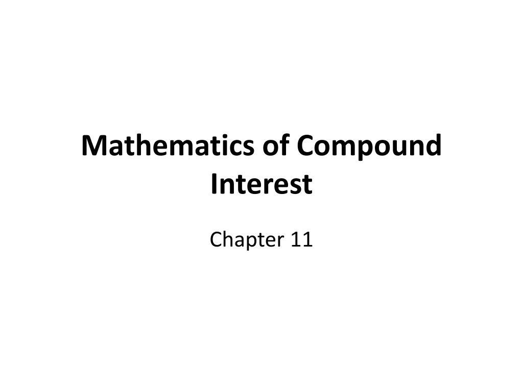 mathematics of compound interest l.