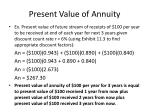 present value of annuity