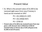 present value18