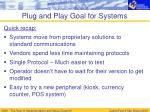 plug and play goal for systems