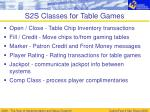 s2s classes for table games