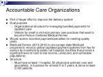 accountable care organizations14
