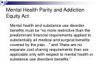 mental health parity and addiction equity act