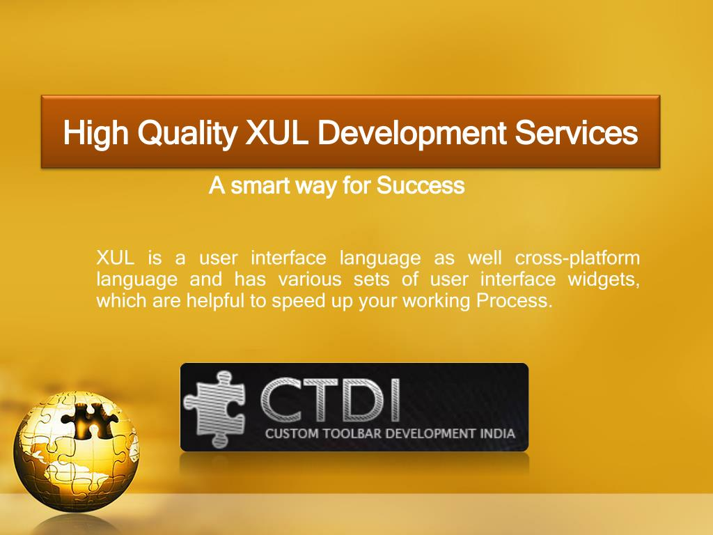high quality xul development services l.