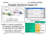 example interference impact 2