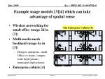 example usage models 3 4 which can take advantage of spatial reuse