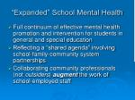 expanded school mental health