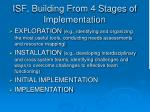 isf building from 4 stages of implementation