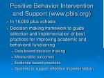 positive behavior intervention and support www pbis org