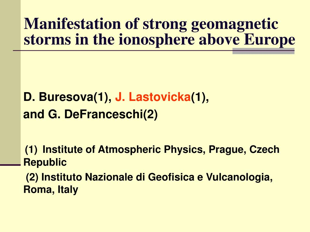 manifestation of strong geomagnetic storms in the ionosphere above europe l.