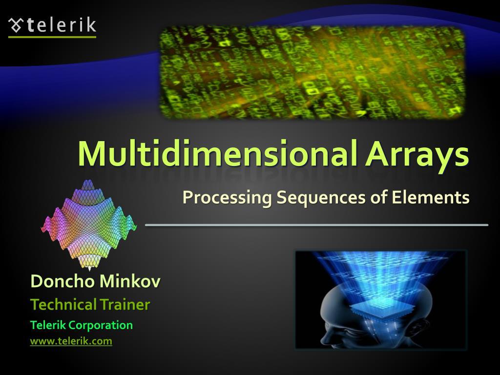 multidimensional arrays l.