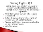 voting rights q 1