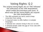 voting rights q 2