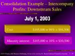 consolidation example intercompany profits downstream sales40