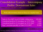consolidation example intercompany profits downstream sales41