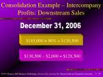 consolidation example intercompany profits downstream sales43