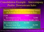 consolidation example intercompany profits downstream sales45