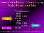 consolidation example intercompany profits downstream sales47