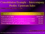 consolidation example intercompany profits upstream sales50