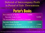 deferral of intercompany profit in period of sale downstream31