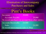 elimination of intercompany purchases and sales6