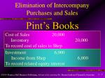elimination of intercompany purchases and sales7