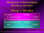 elimination of intercompany purchases and sales8