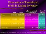 elimination of unrealized profit in ending inventory13