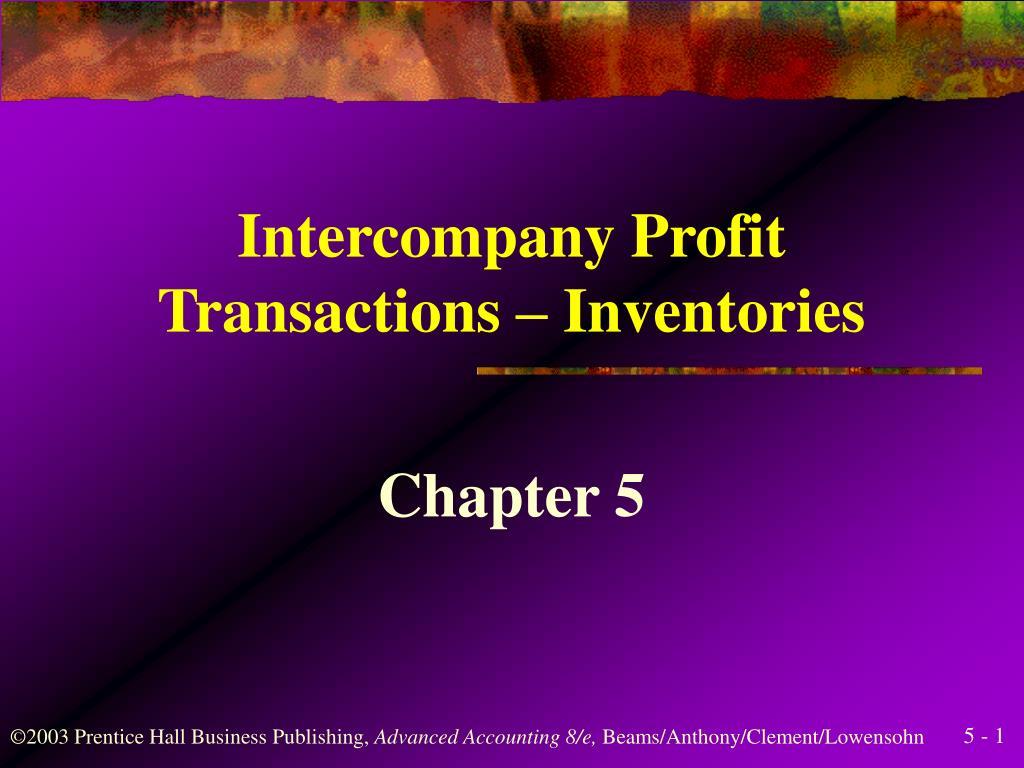 intercompany profit transactions inventories l.