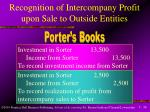 recognition of intercompany profit upon sale to outside entities36