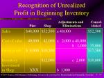 recognition of unrealized profit in beginning inventory17