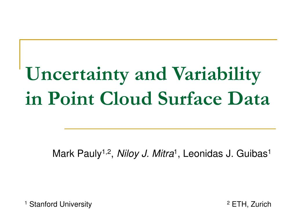 uncertainty and variability in point cloud surface data l.