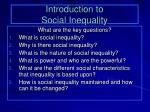 introduction to social inequality