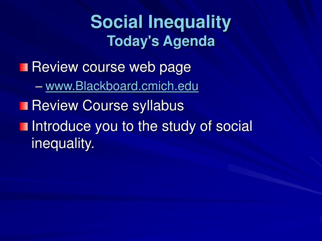 social inequality today s agenda l.