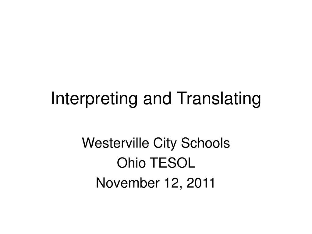 interpreting and translating l.