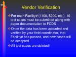 vendor verification