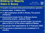 bidding for majority stake in bezeq