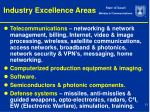 industry excellence areas