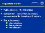 regulatory policy