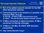 the israel internet 2 network