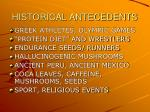 historical antecedents