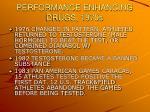 performance enhancing drugs 1970s