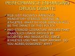 performance enhancing drugs debate