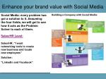 enhance your brand value with social media