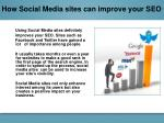 how social media sites can improve your seo